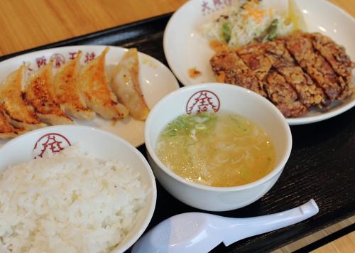 大阪王将の山賊焼定食