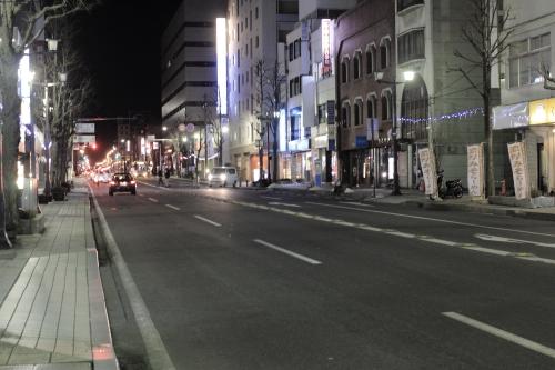 松本駅前通り 夜