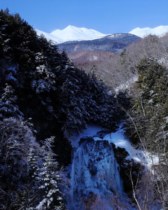 善五郎の滝と乗鞍岳