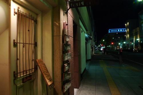 夜の本町通り
